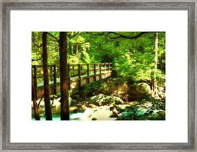 Into The Shadows - Smoky Mountains Framed Print by Barry Jones