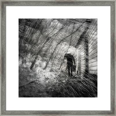 Framed Print featuring the photograph Into The Storm by Gray  Artus