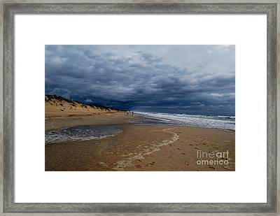 Into The Storm Framed Print by Linda Mesibov