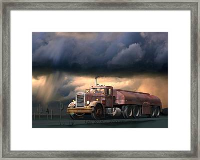 Into The Storm Framed Print by Stuart Swartz