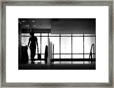 Into The Subway Framed Print by Cho Me