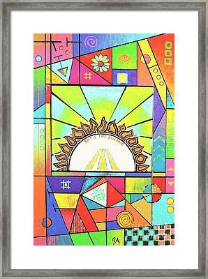 Into The Sun Framed Print by Jeremy Aiyadurai