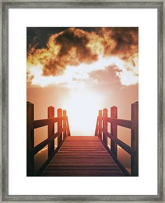 Into The Sun Framed Print by Wim Lanclus