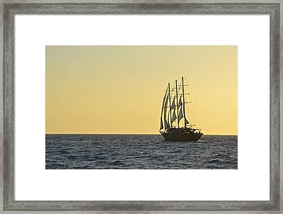 Into The Sunset Framed Print by Corinne Rhode