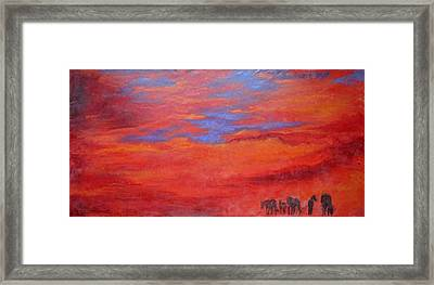 Into The Sunset Framed Print by Gabrielle England