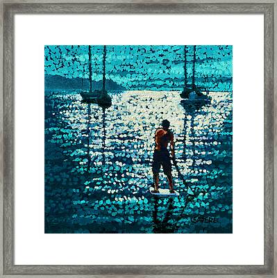 Into The Sunset Framed Print by Lynee Sapere