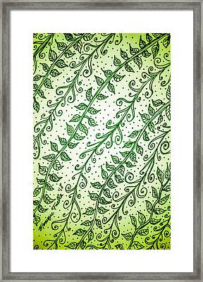 Into The Thick Of It, Green Framed Print