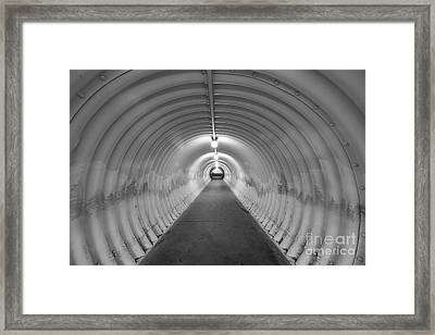 Into The Tunnel Framed Print