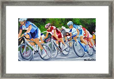 Into The Turn Framed Print by Michael Lee