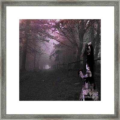 Into The Unknown Framed Print by Rebecca Lemke