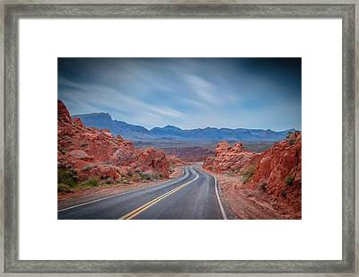 Into The Valley Of Fire Framed Print by Mark Dunton