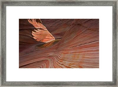 Into The Wave Framed Print by Mike  Dawson