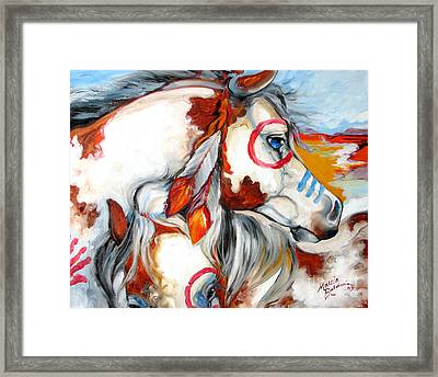 Into The West War Ponies Framed Print