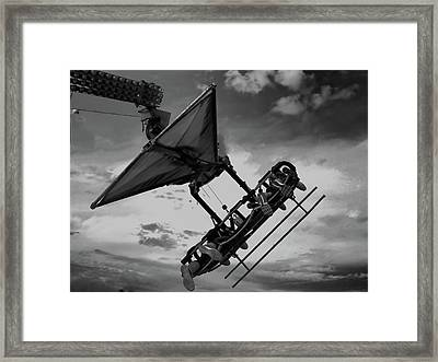 Into The Wild Blue Yonder Framed Print by Bill Dussault