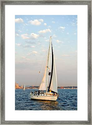 Into The Wind Framed Print by Tom Dowd