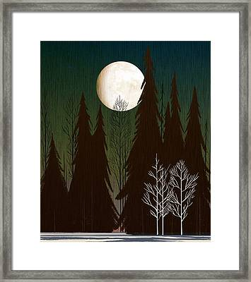 Into The Winter Woods Framed Print by Little Bunny Sunshine
