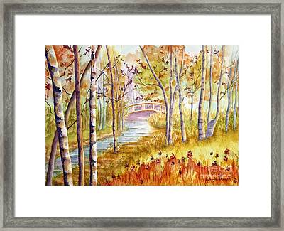 Into The Woodlands Framed Print