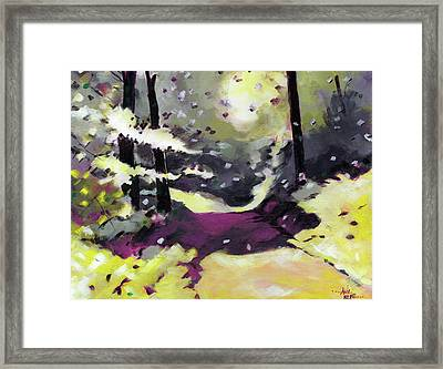 Framed Print featuring the painting Into The Woods 2 by Anil Nene