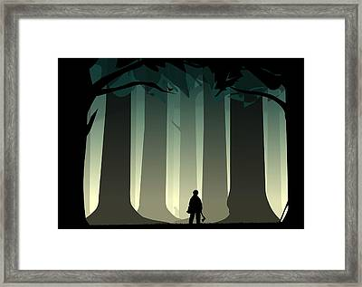 Into The Woods Framed Print by Nestor PS