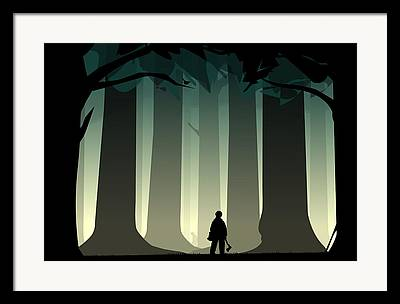 Wood Cutters Framed Prints