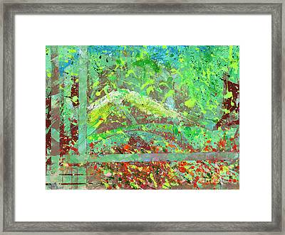 Into The Woods-through The Looking Glass Framed Print