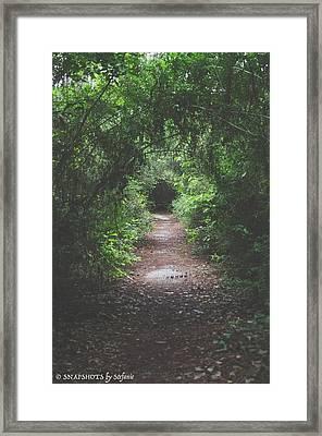 Into The Wormhole Framed Print by Stefanie Silva