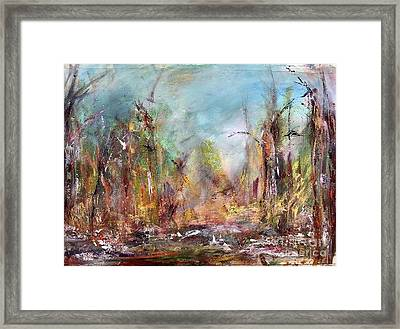 Into Those Woods Framed Print
