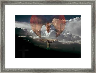 Into Thy Hands I Come Framed Print by Evelyn Patrick