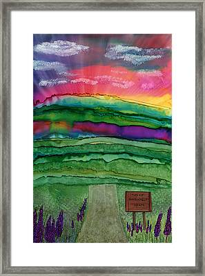 Into Town Framed Print