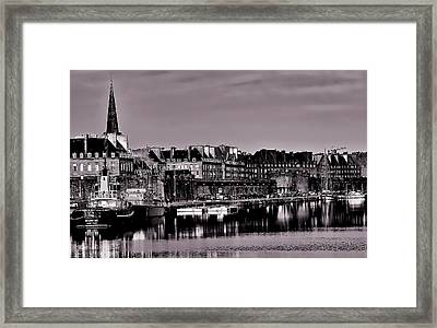 Framed Print featuring the photograph Intra Muros At Night by Elf Evans