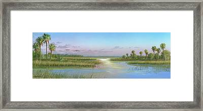 Intracoastal Glimmer Framed Print