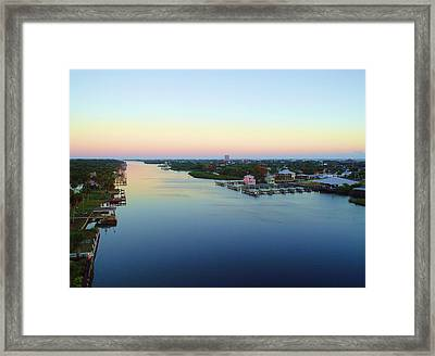 Intracoastal Rainbow Sky Framed Print