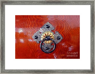 Intricate Bronze Fittings On A Drum Framed Print by Yali Shi