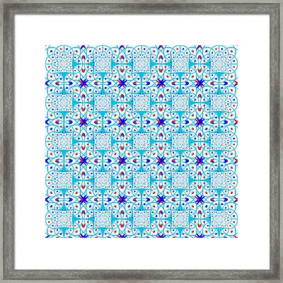 Intricate Geometric Pattern Framed Print by Gaspar Avila