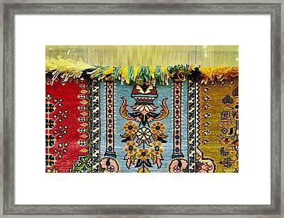 Intricate Silk Weaving At The Carpet Cooperative In Ortahisar, Cappadocia, Turkey Framed Print