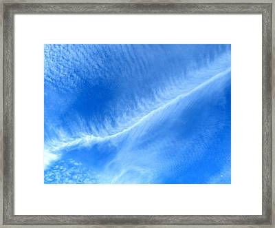 Intriguing Fall Clouds Framed Print
