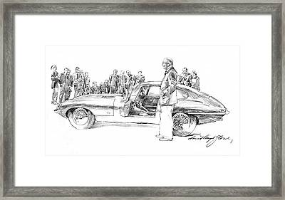 Introducing The 1962 Jag E-type Coupe Framed Print