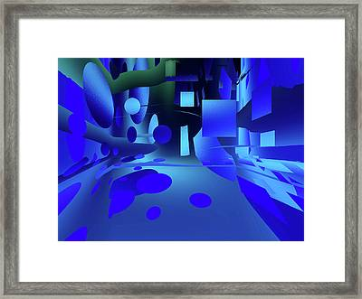 Introduction To Geometry Framed Print by Another Dimension Art