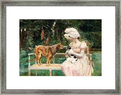 Introductions Framed Print by Charles Henry Tenre