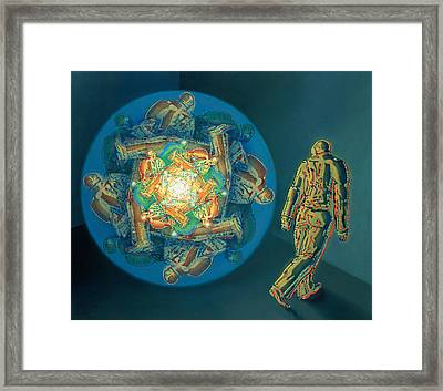 Introspection Framed Print by De Es Schwertberger