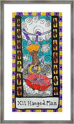 Intuitive Catalyst Card - Hanged Man Framed Print