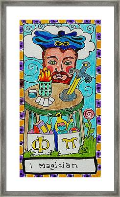 Intuitive Catalyst Card - Magician Framed Print by Corey Habbas