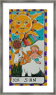 Intuitive Catalyst Card - Sun Framed Print