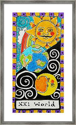 Intuitive Catalyst Card - World Framed Print