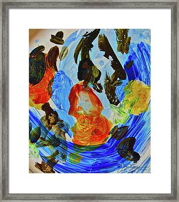 Framed Print featuring the painting Intuitive Painting  215 by Joan Reese