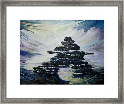 Inukshuk Framed Print by Joanne Smoley