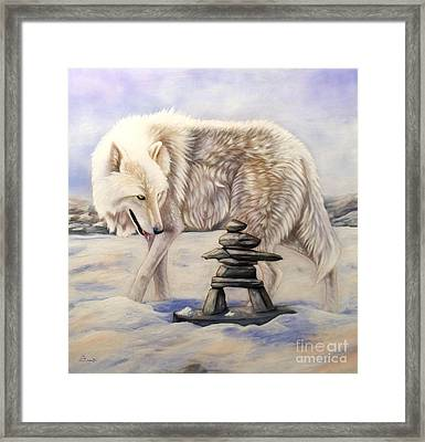 Inuksuk Framed Print by Sandi Baker
