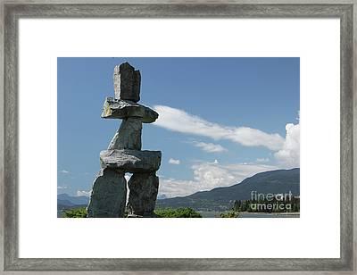 Inuksuk Framed Print