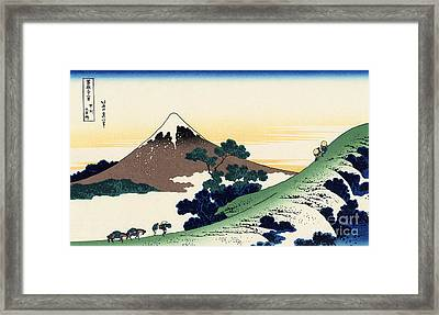 Inume Pass In The Kai Province Framed Print