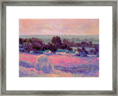 Inv Blend 10 Monet Framed Print by David Bridburg